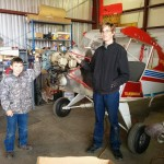 Jake and Joshua in front of Dakota Hawk #28