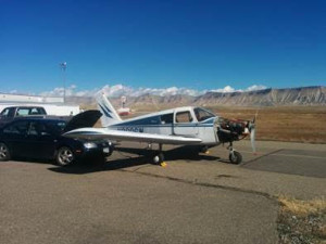 Cherokee at Grand Junction Regional Airport being started during annual inspection