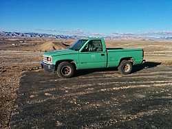 Steve with 1st choice roofing donated a nice running 1993 1500 Chevy Pickup to HAWK to fix up and sell.