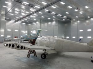 West Star Aviation's paint hanger can service aircraft up to a 100 foot wing span.
