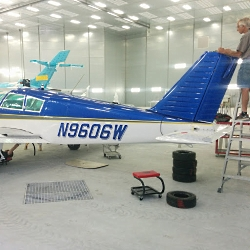 HAWK Cherokee in Paint Booth at West Star Aviation, 796 Heritage Way, Grand Junction, CO 81506