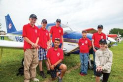 HAWK Youths Arrive in Aircraft They Restored Colorado group aims to interest young adults in aviation From https://www.eaa.org/en/airventure/eaa-airventure-news-and-multimedia/eaa-airventure-news/eaa-airventure-oshkosh/07-27-2017-hawk-youths-arrive-in-aircraft-they-restored by James Wynbrandt Courtesy & Copyright Andrew Zaback, Photographer