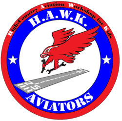 HAWK Logo Hawk-16s High Country Aviation Workshop for Kids Mack, CO