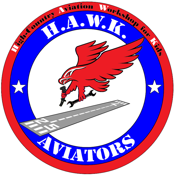 HAWK Logo Hawk-16s High-Country Aviation Workshop for Kids Mack, CO