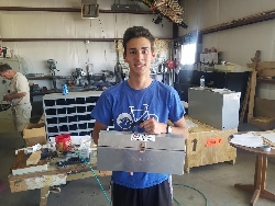 Collin's finished tool box.
