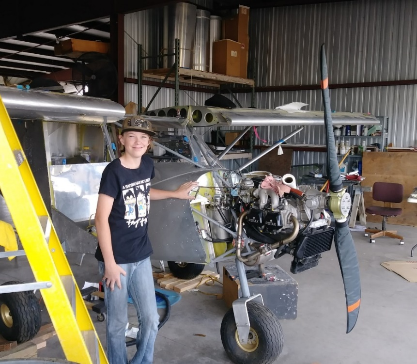 Aiden with the Zenith 701 Courtesy & © John Caldwell
