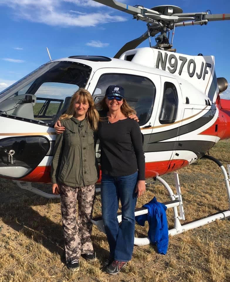 Krista is a pilot!: Beth, Krista & Alouette's Eurocopter France Mack-Mesa Flat Tire Weekend, May 2018 Photo Courtesy & © Beth Stanton, Photographer
