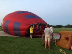 Cold Inflation Balloon glow event at OSH Airventure 2021 Hawk display Courtesy & © Bruce Erickson, Photographer