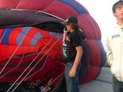 Holding the Throat, Balloon glow event at OSH Airventure 2021 Hawk display Courtesy & © Bruce Erickson, Photographer