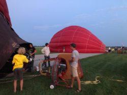 Balloon glow event at OSH Airventure 2021 Hawk display