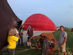 Cold Inflation, Balloon glow event at OSH Airventure 2021 HAWK display
