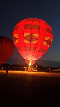 HAWK Balloon Glow at Airventure 21 Courtesy & © Britton